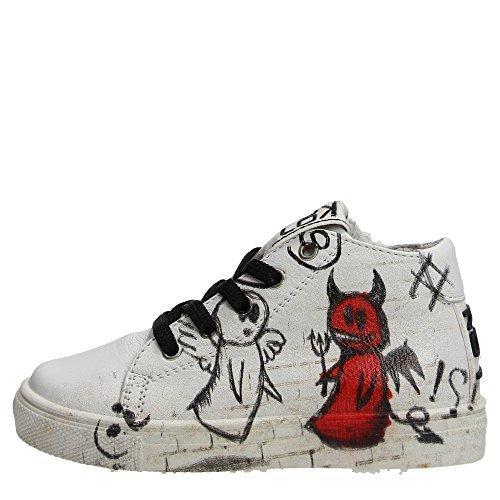 Kool 190.30 Sneakers Bambino Pelle Bianco Bianco 25