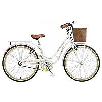 Viking Women's Crystal 24 Inch Wheel Heritage Bike - Pearl White, 13 Inch by Viking