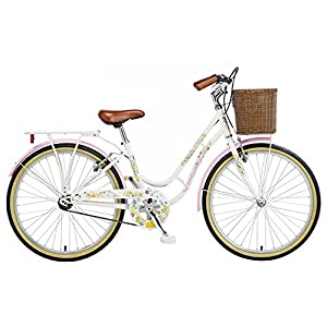 Viking Women's Crystal 24 Inch Wheel Heritage Bike - Pearl White, 13 Inch by Viking