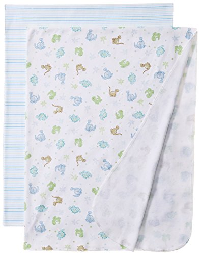Spasilk Baby-Boys Newborn 2 Pack Swaddle Blanket Blue Dino