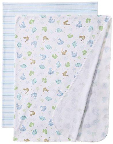 Spasilk Baby-Boys Newborn 2 Pack Swaddle Blanket Blue Dino - 1