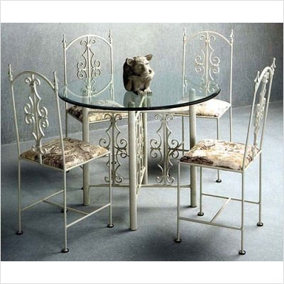 "42"" Round Gothic Dining Table Metal Finish: Antique Bronze"