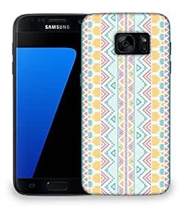 Snoogg light blue aztec Designer Protective Back Case Cover For Samsung Galaxy S7