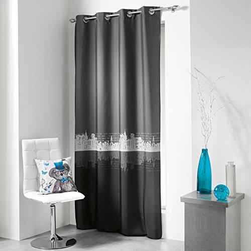 lulu-castagnette-1680170-cortina-con-anillas-140-x-240-cm-lulu-urban-poliester-estampado-gris