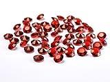 100-Diamanten-rot-bordeaux-12mm-Tischdekoration-Streuartikel-Hochzeit-Taufe