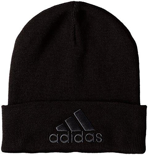Adidas Logo Woolie Berretto, Nero (Nero/Nero/Nero), OSFM