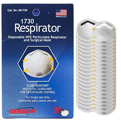 Gerson 1730 N95 Particulate respirator (Pack of 20)