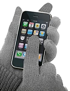 Grey Texting Gloves - Touch Screen Phone Smart Gloves For iPhone, Android & Other Touch Screen Devices (GREY)