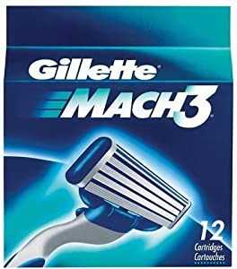Gillette Mach3 Base Cartridges, 12 Count (packaging may vary)