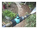 Garden Hose to Hose Shut Off Valve | Arthritis Friendly Faucet Extension. Ergonomic, Aesthetic, and Highly Durable!
