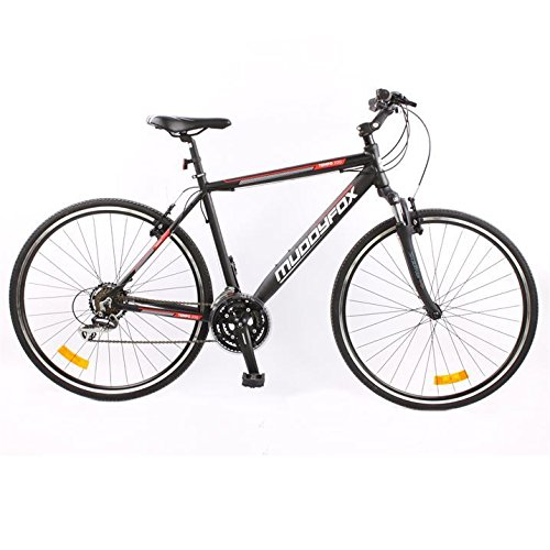 muddyfox-mens-tempo200-hybrid-bike-tech-spec-bicycle-lightweight-black-red-700wh-18fr