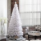 Finley Home White Clover Medium Fiber Optic Pre-lit LED Christmas Tree, Clear, Plastic, 7 Feet