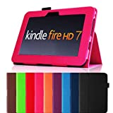 "Fintie (Magenta) Slim Fit Leather Case Cover Auto Sleep/Wake for Kindle Fire HD 7"" Tablet (will only fit Kindle Fire HD 7"") - Multiple Color Options"