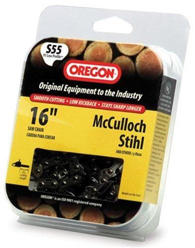 Oregon S55 16-Inch Semi Chisel Chain Saw Chain Fits McCulloch, Stihl