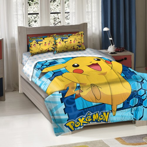 Why Choose Pokemon Big Pika Twin/Full Comforter with 2 Pillow Shams by The Northwest Company