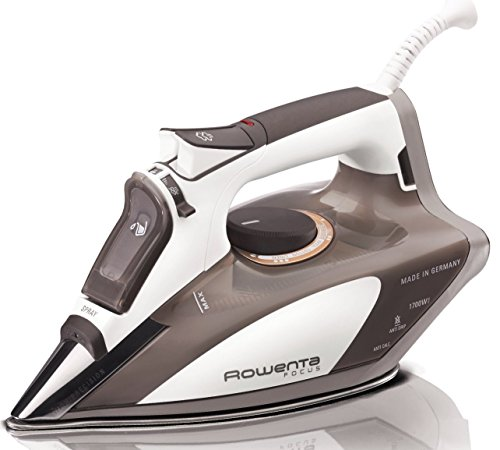 Rowenta DW5080 Focus Auto Shut off 400-Hole Stainless Steel Soleplate Steam Iron,1700-Watt, Beige
