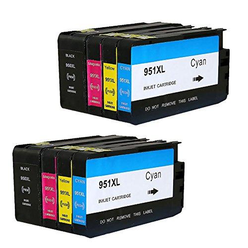 2 SET Bosumon Kompatibel HP 950XL 951XL Tintenpatronen komm mit neuen chips Hohe Kapazität kompatibel zu HP Officejet Pro 8600 8610 8620 8630 8640 8100 8660 8625 8615 251dw 271dw 276dw 8600 Plus e-All-in-One