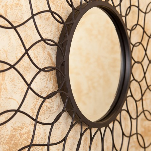 Elliptic Mirrored Wall Sculpture - 36W x 36H in.