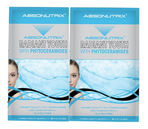 2 Absonutrix Radiant Youth With Phytoceramides Matrixyl 3000 Vitamin C 30 Trans-Dermal Anti-Wrinkle
