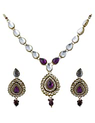 Vivanka Jewels Designer Gold Plated Kundan Necklace Set - B00MS4Y2VY