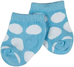Country Kids 3 Pack Organic Big Dot Socks (Baby)-Aqua-5-6