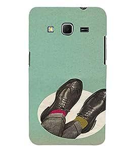 PrintVisa Oxford Shoes Design 3D Hard Polycarbonate Designer Back Case Cover for Samsung Galaxy Core Prime G360