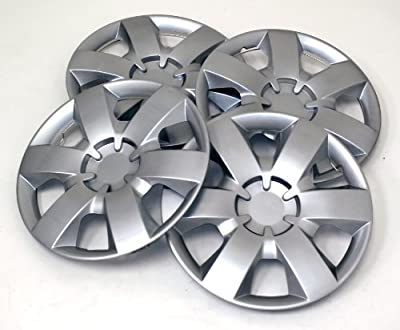 TuningPros WSC-226S14 Hubcaps Wheel Skin Cover 14-Inches Silver Set of 4