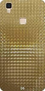 Dragon Shield' Vivo V3 GOLD Back Cover ( Diamond Cover )