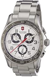 Victorinox Swiss Army Men's 241445 Chrono Classic Silver-Tone Chronograph Dial Watch