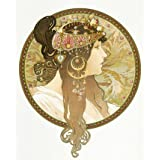 Design for a poster of a Woman's portrait, by Alphonse Mucha (Print On Demand)