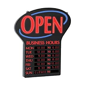 Open sign w business hours business and store signs office
