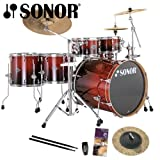 Sonor Essential Force S Drive Amber Fade 6-Piece Drum Kit - Sabian HH Radia Cup Chime Included with Purchase!