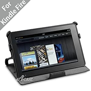 Acase High Quality Premium Slim Leather Case Folio with built-in Stand for Kindle Fire Full Color 7-Inch Multi-touch Display, $5