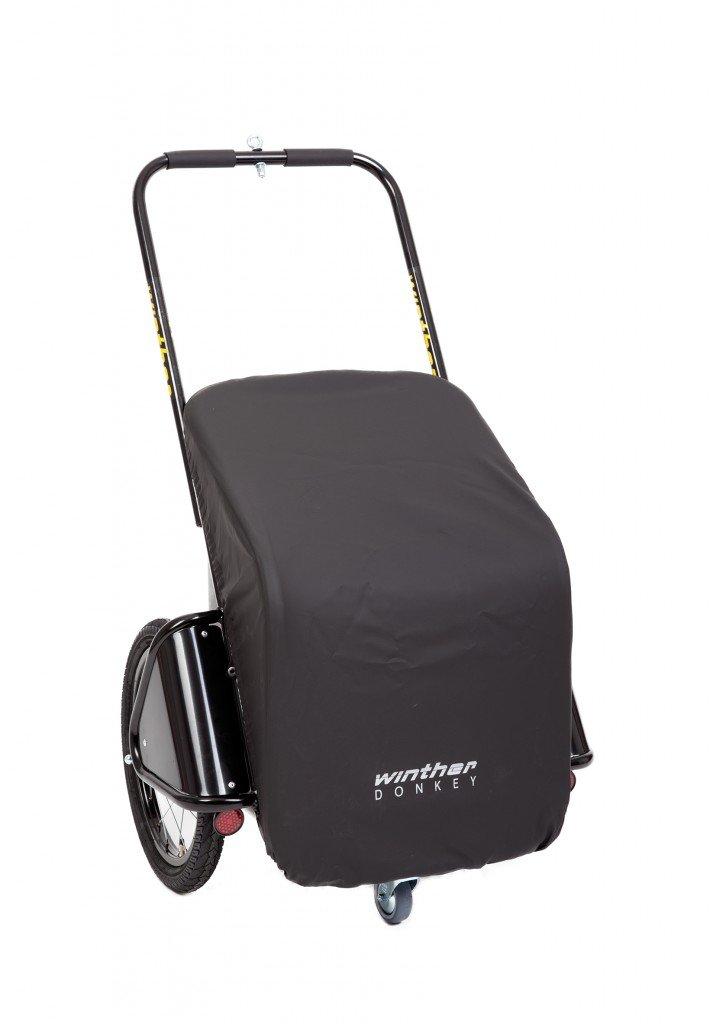 Donkey Classic schwarz – der praktische Anhänger für`s Fahrrad (Stauraum: 65 Liter / Gewicht: 10,5 kg / Zuladung: 40 kg) von Winther jetzt bestellen