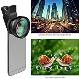 AUKEY Ora iPhone Lens, 120° Wide Angle Lens + 15X Macro Lens for iPhone, Samsung, Android Smartphones