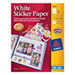 Avery Sticker Paper, 8.5 x 11 Inches,...