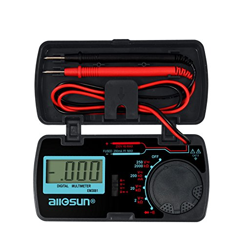 all-sun-Digital-Multimeter-DMM-Multi-Tester-Amp-Ohm-Volt-Meter-Diode-and-Continuity-Test-Pocket-Size