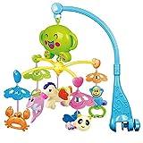 BEETEST Beb� ni�o m�sica giratoria lecho m�vil cuna campana colgante delf�n cangrejo caballo abeja mono decoraci�n traqueteo juguetes educativo de aprendizaje Azul