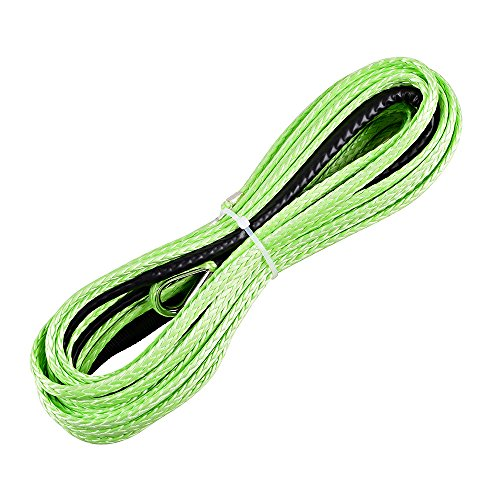 316-x-50ft-Green-Synthetic-Winch-Rope-Line-Cable-5400LBs-with-Sheath-Thimble-ATV-UTV-Truck-Boat-Pick-up-Truck