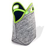 """Nordic by Nature Xtra Big Insulated Large Neoprene Lunch Bag Set: Tote + Bottle Cooler + 2 Can Koozies 