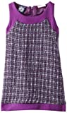 So La Vita Girls 2-6x Zipper Back Boucle Party Dress