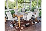 6x Stuhl Kunstleder weiß Küchenstuhl Design Drehstuhl Lehnstuhl Wohnzimmer neu
