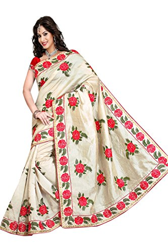 Shop Only Women's Embriodered Assam silk silk saree