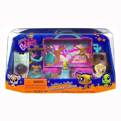 Buy Low Price Hasbro Littlest Pet Shop Teeniest Tiniest Mini Figure 3Pack Australia Outback (B002TBHTAC)