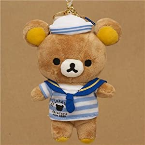 Rilakkuma brown bear as sailor plush charm