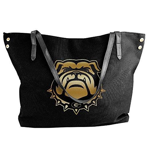 georgia-bulldogs-gold-style-logo-women-shoulder-bags