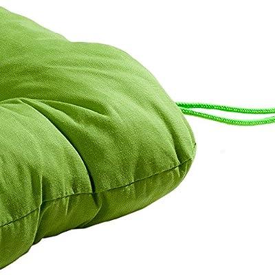 """Stuhlkissen, Sitzkissen, Softkissen, mit Bindebändern in grün, """"Capri"""" von Schwar Textilien - Gartenmöbel von Du und Dein Garten"""