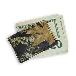 Weber\'s Leathers Men\'s Break-Up Leather Money Clip, Mossy Oak Break-Up, One Size