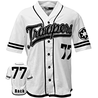 Star Wars - Mens Troopers Baseball Jersey 2x-large White by Old Glory