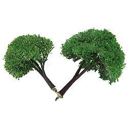 Generic 2pcs 3.15 Inch / 3.94 Inch Scenery Landscape Model Trees